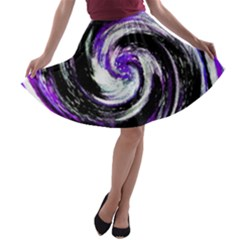 Canvas Acrylic Digital Design A Line Skater Skirt