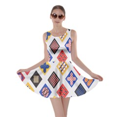 Plaid Triangle Sign Color Rainbow Skater Dress by Alisyart