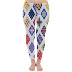 Plaid Triangle Sign Color Rainbow Classic Winter Leggings