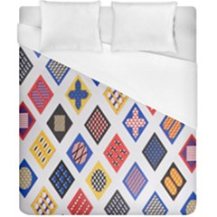 Plaid Triangle Sign Color Rainbow Duvet Cover (california King Size) by Alisyart