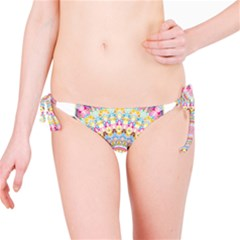 Kaleidoscope Star Love Flower Color Rainbow Bikini Bottom by Alisyart