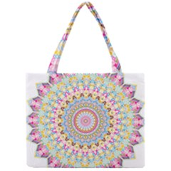 Kaleidoscope Star Love Flower Color Rainbow Mini Tote Bag by Alisyart