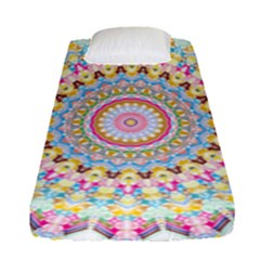 Kaleidoscope Star Love Flower Color Rainbow Fitted Sheet (single Size)