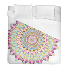 Kaleidoscope Star Love Flower Color Rainbow Duvet Cover (full/ Double Size) by Alisyart