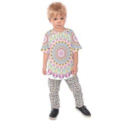 Kaleidoscope Star Love Flower Color Rainbow Kids  Raglan Tee by Alisyart
