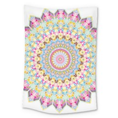 Kaleidoscope Star Love Flower Color Rainbow Large Tapestry by Alisyart