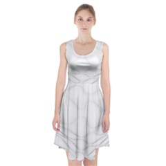 Line Stone Grey Circle Racerback Midi Dress by Alisyart