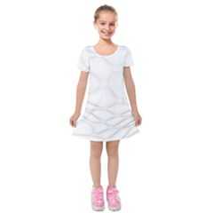Line Stone Grey Circle Kids  Short Sleeve Velvet Dress by Alisyart