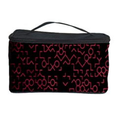 Random Pink Black Red Cosmetic Storage Case by Alisyart