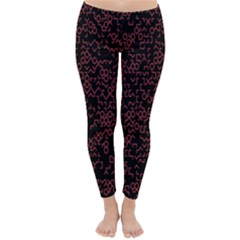 Random Pink Black Red Classic Winter Leggings