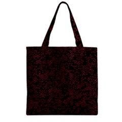 Random Pink Black Red Zipper Grocery Tote Bag by Alisyart