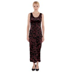 Random Pink Black Red Fitted Maxi Dress by Alisyart