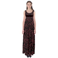 Random Pink Black Red Empire Waist Maxi Dress by Alisyart