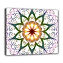 Prismatic Flower Floral Star Gold Green Purple Deluxe Canvas 24  x 20   View1