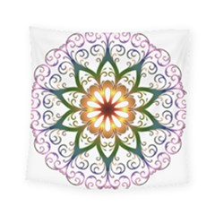 Prismatic Flower Floral Star Gold Green Purple Square Tapestry (small) by Alisyart