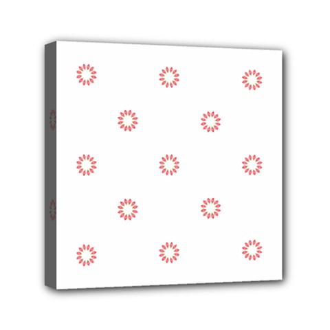 Scrapbook Paper Flower Mini Canvas 6  X 6  by Alisyart