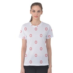 Scrapbook Paper Flower Women s Cotton Tee by Alisyart