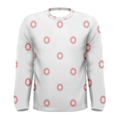 Scrapbook Paper Flower Men s Long Sleeve Tee by Alisyart