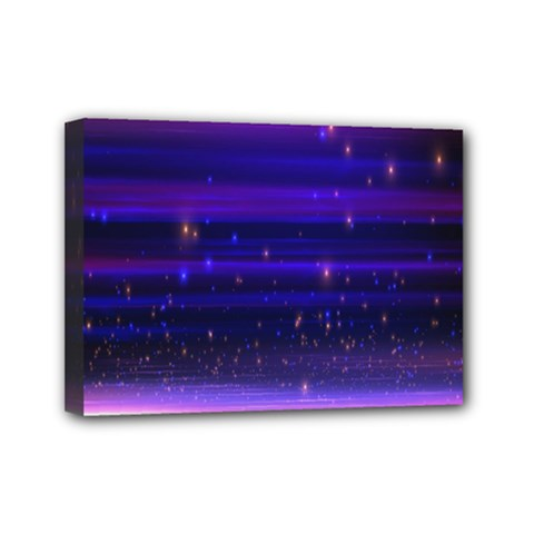 Space Planet Pink Blue Purple Mini Canvas 7  X 5  by Alisyart