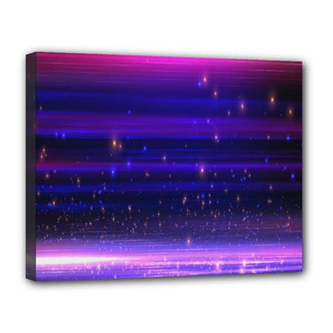 Space Planet Pink Blue Purple Canvas 14  X 11  by Alisyart