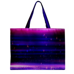 Space Planet Pink Blue Purple Mini Tote Bag by Alisyart