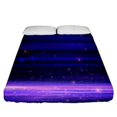 Space Planet Pink Blue Purple Fitted Sheet (king Size) by Alisyart