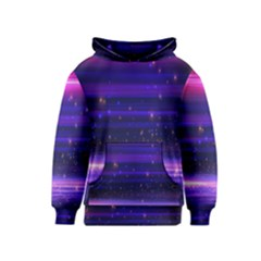 Space Planet Pink Blue Purple Kids  Pullover Hoodie by Alisyart