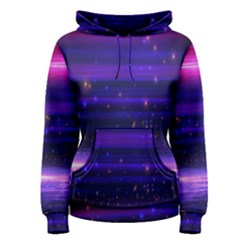 Space Planet Pink Blue Purple Women s Pullover Hoodie