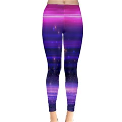 Space Planet Pink Blue Purple Classic Winter Leggings