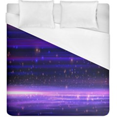 Space Planet Pink Blue Purple Duvet Cover (king Size) by Alisyart