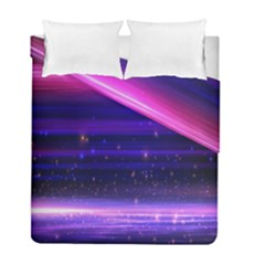 Space Planet Pink Blue Purple Duvet Cover Double Side (full/ Double Size) by Alisyart