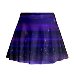Space Planet Pink Blue Purple Mini Flare Skirt by Alisyart