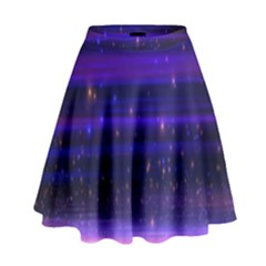 Space Planet Pink Blue Purple High Waist Skirt by Alisyart