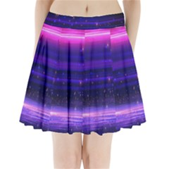 Space Planet Pink Blue Purple Pleated Mini Skirt by Alisyart