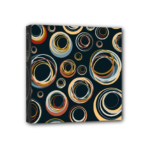 Seamless Cubes Texture Circle Black Orange Red Color Rainbow Mini Canvas 4  X 4