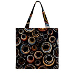 Seamless Cubes Texture Circle Black Orange Red Color Rainbow Grocery Tote Bag by Alisyart