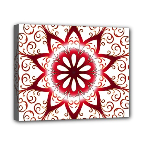 Prismatic Flower Floral Star Gold Red Orange Canvas 10  X 8  by Alisyart