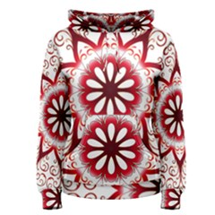 Prismatic Flower Floral Star Gold Red Orange Women s Pullover Hoodie