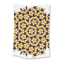 Star Orange Blue Small Tapestry