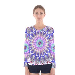 Prismatic Line Star Flower Rainbow Women s Long Sleeve Tee by Alisyart