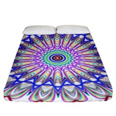 Prismatic Line Star Flower Rainbow Fitted Sheet (king Size)