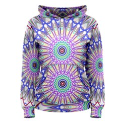 Prismatic Line Star Flower Rainbow Women s Pullover Hoodie
