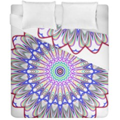 Prismatic Line Star Flower Rainbow Duvet Cover Double Side (california King Size) by Alisyart