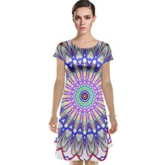 Prismatic Line Star Flower Rainbow Cap Sleeve Nightdress by Alisyart