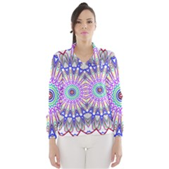 Prismatic Line Star Flower Rainbow Wind Breaker (women)