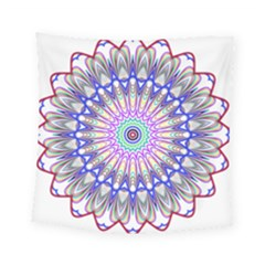 Prismatic Line Star Flower Rainbow Square Tapestry (small) by Alisyart