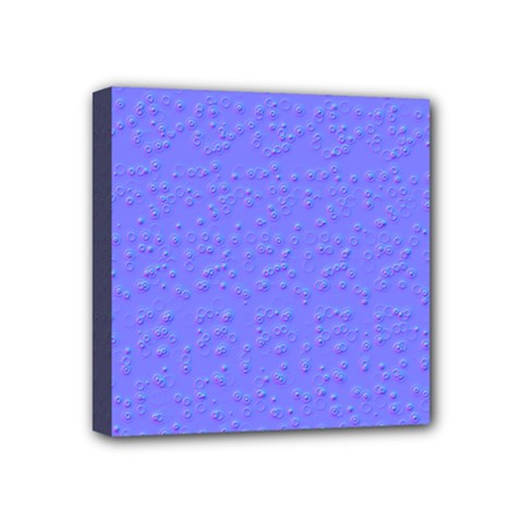 Ripples Blue Space Mini Canvas 4  X 4