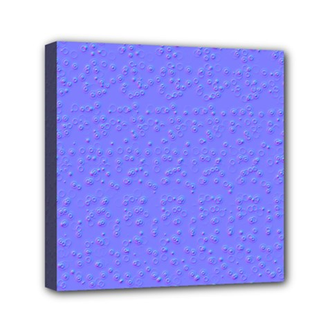 Ripples Blue Space Mini Canvas 6  X 6