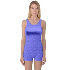 Ripples Blue Space One Piece Boyleg Swimsuit