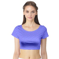 Ripples Blue Space Short Sleeve Crop Top (tight Fit) by Alisyart